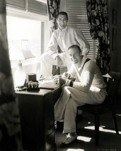 Randolph Scott and Cary Grant at home, 1930s.  What an amazing couple.