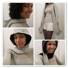 Hoodie Fleece Scarf with Pockets