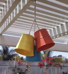 Patio lights from plant pot (Socker) and Hemma cord set