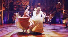 "Renée Elise Goldsberry, Phillipa Soo, and Jasmine Cephas Jones as The Schuyler Sisters in ""Hamilton"""