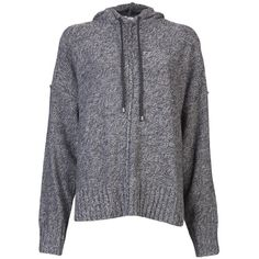 T By Alexander Wang Boxy Knit Hoodie ($285) ❤ liked on Polyvore