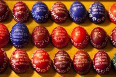 Sorbian women craft ornate Easter eggs