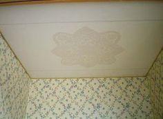 Paper doilies for ceiling decor.Clever.  http://fabiolamiominimondo.blogspot.com/