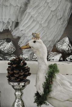 Christmas goose - of the taxidermy variety