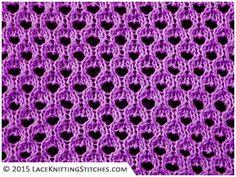 #LACE KNITTING No.19    Large Eyelet patterrn