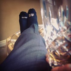 stiff drink and a pair of #GroomSocks are all he'll need to ward off ...