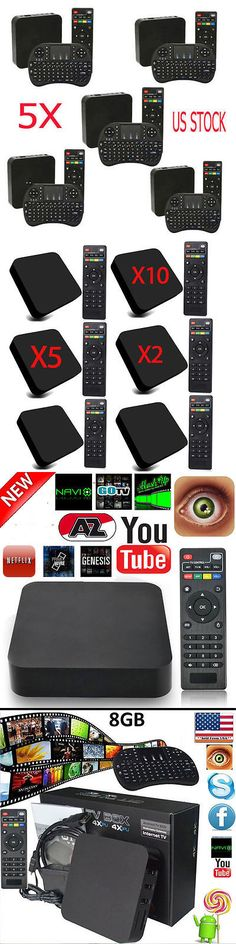 Other TV Video and Home Audio: Lot 5 10 Mxq-4K Quad Core Android 8G Smart Tv Box Free Mini Mouse W Keyboard -> BUY IT NOW ONLY: $31.95 on eBay!