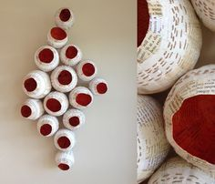 mixed media and technique - repetition in form, simplicity of contrast in color - beautiful! (could do small group collaborations) Diy And Crafts, Arts And Crafts, Paper Mache Crafts, Book Sculpture, Sculpture Ideas, Paperclay, Assemblage Art, Diy Paper, Textile Art