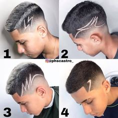 Hair Designs For Boys, Short Hair Designs, Boys Haircuts With Designs, Fade Haircut Designs, Undercut Hair Designs, Young Men Haircuts, Hair Tattoo Designs, Gents Hair Style, Tribal Hair