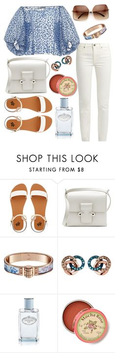 """""""#121"""" by torgashikowa ❤ liked on Polyvore featuring 2b bebe, Alexander McQueen, Links of London, Prada and Anthropologie"""