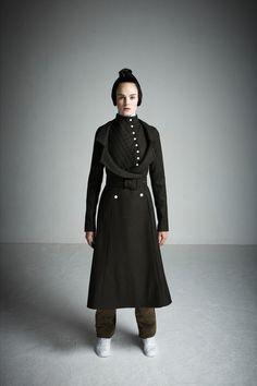 A.W.A.K.E. by Natalia Alaverdian. 18th Century Costume for Men: a version of the three piece ditto suit, this look contains a waistcoat, a coat, and has trousers to replace the breeches.