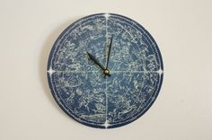 Vintage Constellation Map Print Wall Clock  Modern by GeekGifting