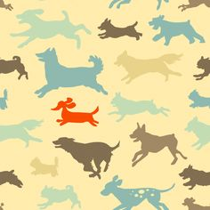 Every Dog Has Its Day - Bright fabric by jenimp on Spoonflower - custom fabric
