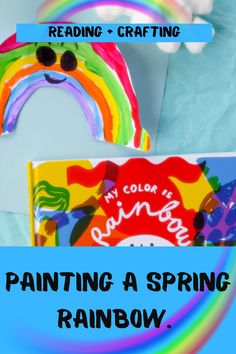 Rainbow activities from painting a colorful rainbow to creating sensory rainbow spagetti. So many rainbows in one place! #rainbowcrafts #rainbowlearning #kidscraftideas Rainbow Learning, Rainbow Activities, Free Activities For Kids, Rainbow Crafts, Summer Activities For Kids, Fun Crafts For Kids, Book Activities, Kids Learning, Easy Preschool Crafts