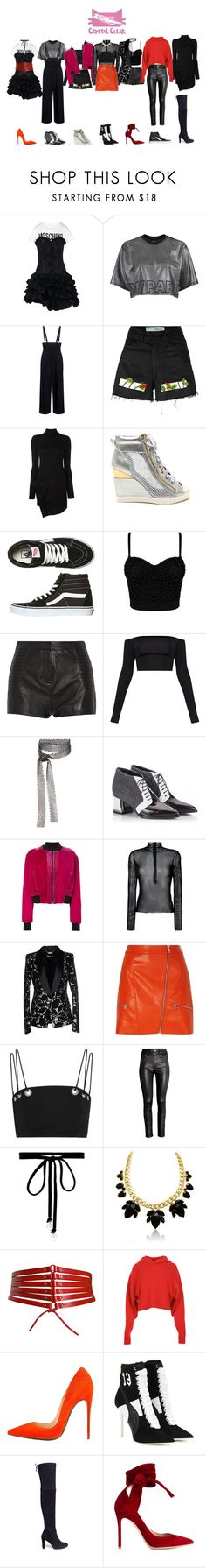 """""""Hobgoblin CLC"""" by souljuice ❤ liked on Polyvore featuring Moschino, Topshop, TIBI, Off-White, Dsquared2, Vans, Pierre Balmain, Fallon, Alberto Guardiani and County Of Milan"""