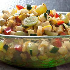 Moroccan Zucchini, Grape, and Bell Pepper Salad Recipe Recipe