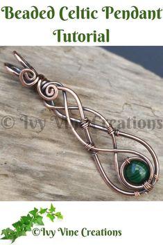 Celtic Wire Jewelry, Wire Jewelry Making, Wire Weaving Tutorial, Bijoux Fil Aluminium, Wire Jewelry Designs, Diy Jewelry Inspiration, Wire Wrapped Earrings, Wire Wrapped Stones, Wire Wrapped Pendant