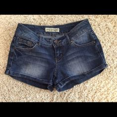 PRICE DROPPARIS BLUES Jean Shorts PARIS BLUES Jean Shorts in dark denim. Cute and trendy shorts in excellent condition. Size 3 juniors equal to a size 2 Paris Blues Shorts Jean Shorts