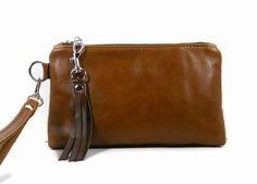 Leather Wristlet Wallet Leather Clutch Purse Women's by ThePurseCo