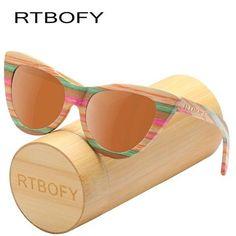 321e0371b2cbc Bamboo Sunglasses. Vintage SunglassesSunglasses WomenPolarized SunglassesPolaroid  FrameVintage DesignsCat EyeBambooShadesWood