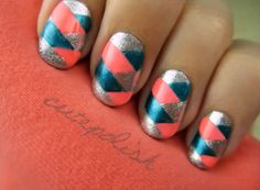 Braided Nails, love the colors.