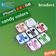 2014 fashion headset candy colors earphone for iphone 5s 5c 4s 4 3Gs ear headphones jack socket Multicolor With Remote and Mic $5.99 Apple Mobile Phones, Candy Colors, Iphone 5s, Headset, In Ear Headphones, Remote, Fashion, Headphones, Moda