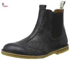 Bisgaard Boot, Bottes Classiques fille, 212 Snake-black-37 EU - Chaussures