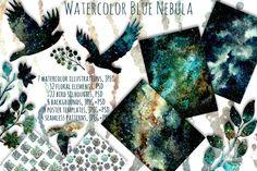 Blue Nebula Set By Salted Galaxy