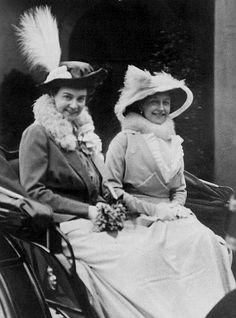 Her Royal Highness Princess Olga of Hanover and her brother's wife, Her Royal Highness The Duchess of Brunswick-Luneberg