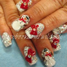 Snowman Nails by: WildZide Nails