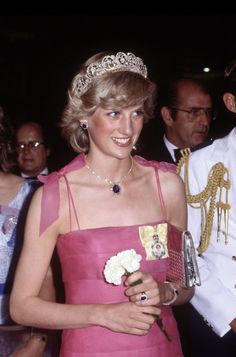 Diana Princess of Wales arrives at the Crest Hotel in Brisbane, Australia on April 10, 1983 for a reception during the Royal Tour of Australia.
