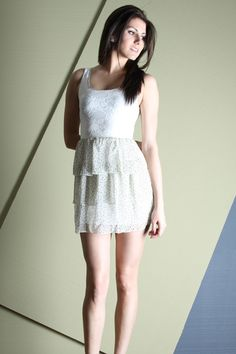 Parisian affair ivory lace dress