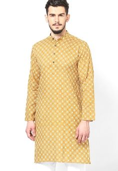 Check out this multicolored kurta by Parikrama that exhibits a wonderful print allover.