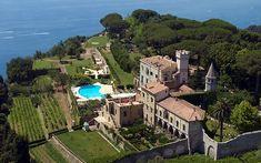 Villa Cimbrone, Ravello, Italy Most stunning hotels I've ever seen Villa Amalfi, Hotel Wedding Receptions, Costa, Ravello Italy, Restaurants, Amalfi Coast Wedding, Hotel Restaurant, Luxury Rooms, Luxury Hotels