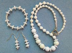 Charming Necklace Set Consisting Of  White by AprilSnowJewelry, $22.00