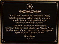 Walt Disney quote in Disneyland