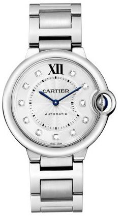 WE902075 NEW CARTIER BALLON BLEU UNISEX WATCH     Usually ships within 8 weeks - FREE Overnight Shipping - NO SALES TAX (Outside California)- WITH MANUFACTURER SERIAL NUMBERS- Roman Numeral Silver Opaline Diamond Dial- 11 Brilliant-Cut Diamonds on Dial- Fluted Crown Set With Synthetic Cabochon-Shaped Spinel - Sword Shaped Blue Hands - Self Winding Automatic Movement - 3 Year Warranty- Guaranteed Authentic - Certificate of Authenticity- Manufacturer Box