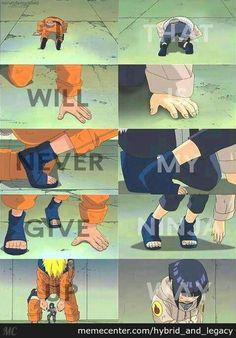 Naruto and hinata || I will never give up, this is my ninja way.. that's what naruto taught to Hinata and to everyone ♡