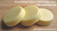 Nourishing Tallow Hard Lotion Bars | TraditionalCookingSchool.com