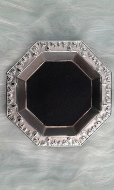 Silver and leather key tray FREE SHIPPING