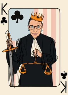 Woman Cards - deal me in Donald Trump Hillary Clinton, Justice Ruth Bader Ginsburg,