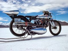 1150cc Brough Superior on the Salt