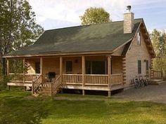 Rangely Log Home Plan by Moosehead Cedar Log Homes Log Cabin Floor Plans, Log Cabin Kits, Log Cabin Homes, Small Log Cabin Plans, Log Cabins, Mountain Cabins, Barn Plans, Rustic Home Plans, Diy Log Cabin