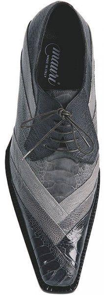 Mauri Cash 44168 Dark Grey / Medium Grey / Light Grey Genuine All Over Ostrich Leg Shoes - $999.90