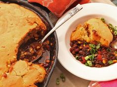 Cast Iron Cooking: Tamale Pie With Vegetarian Chili and Brown Butter Cornbread Crust