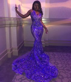 Looking for Evening Dresses,Prom Dresses in Sequined, Mermaid style, and Gorgeous work? Babyonlinewholesale has all covered on this elegant V-neck Sleeveless Sequins Mermaid Long Train Shining Prom Dresses. Black Girl Prom Dresses, Senior Prom Dresses, Civil Wedding Dresses, African Prom Dresses, Pretty Prom Dresses, Prom Outfits, Mermaid Prom Dresses, Formal Dresses, Party Dresses