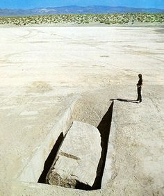 1969 Michael Heizer - displaced/replaced mass No. 1 Nevada, silver springs