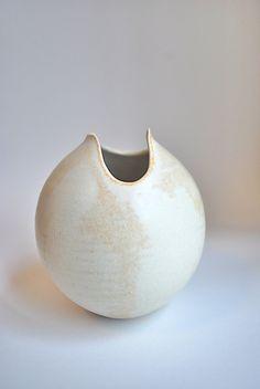 Amazing Vintage Modernist Hand Made Studio Pottery Art Sculpture Vase