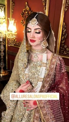 Designer Bridal Mehndi Dresses, Asian Wedding Dress, Pakistani Wedding Outfits, Muslim Brides, Bridal Dress Design, Pakistani Wedding Dresses, Wedding Dresses For Girls, Bridal Outfits, Pakistani Makeup Looks