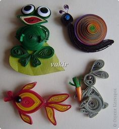 Квиллинг - Магнитики В мире животных Quilling Animals, Paper Quilling, Handmade Rakhi, Decoration, Projects To Try, Arts And Crafts, Christmas Ornaments, Holiday Decor, Quilling